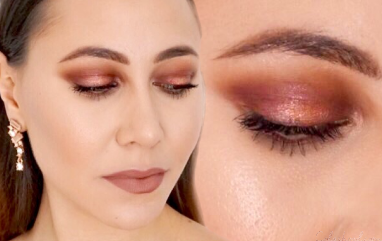 Tuto maquillage rose gold