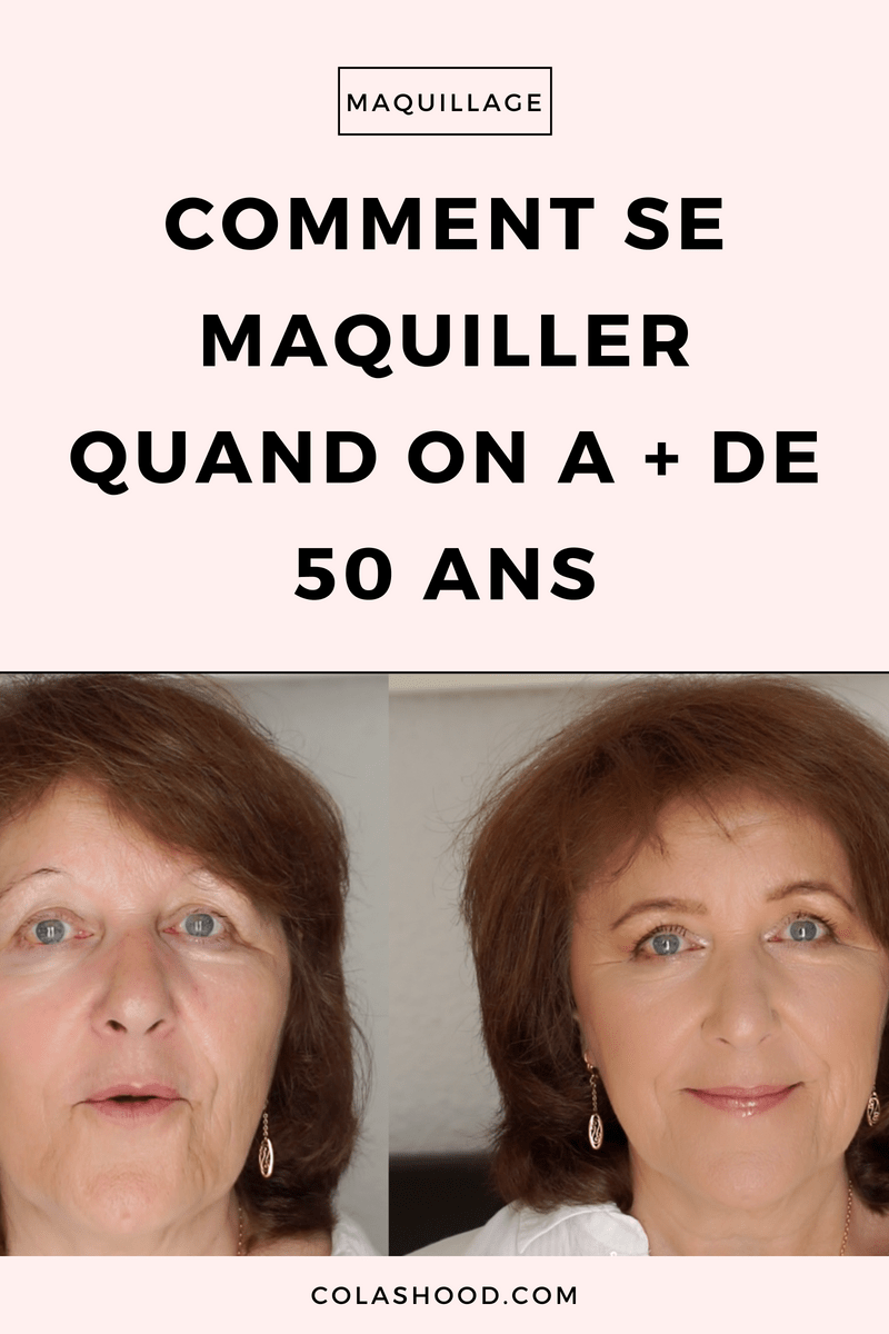 maquillage 50 ans femme