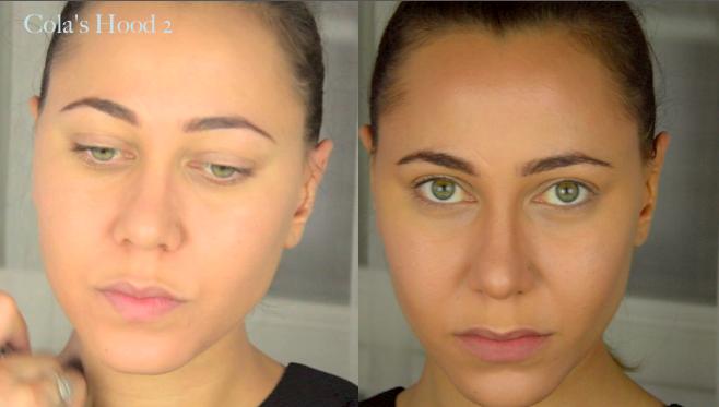 avant après contouring maquillage