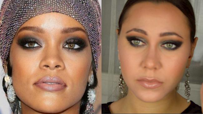 maquillage rihanna cfda awards