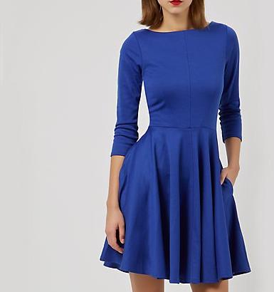 robe patineuse bleue