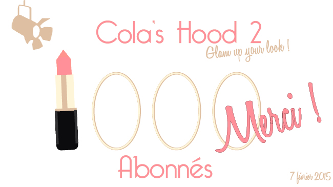 1000 abonnés youtube colashood2