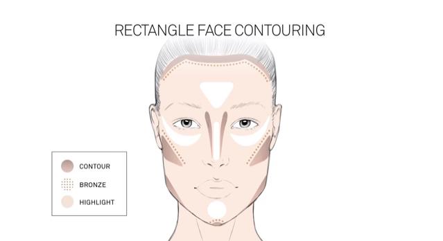 contouring visage rectangulaire