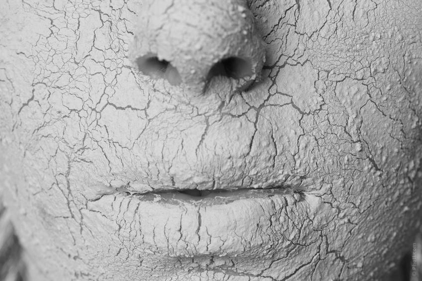 peau très sèche