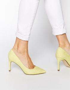 escarpins jaunes bas