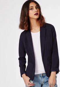 blazer bleu marine kate middleton style casual