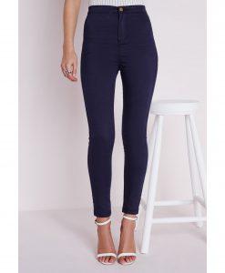 jean bleu marine kate middleton style taille haute