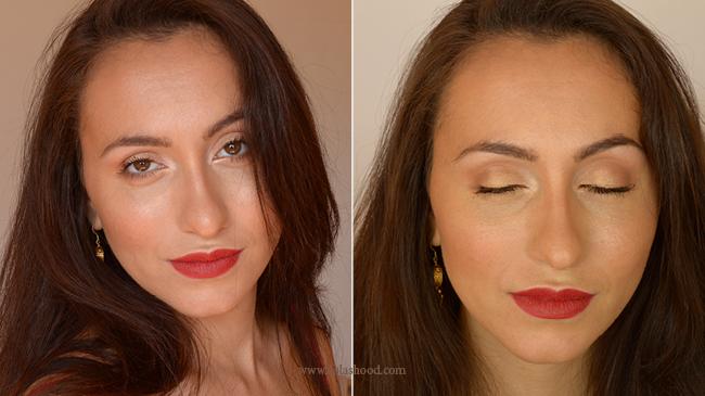maquillage des yeux marron pour une soirée
