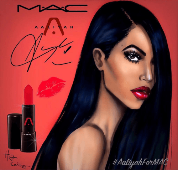 aaliyah et mac cosmetics #aaliyahformac collaboration