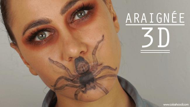 idée maquillage halloween araignée
