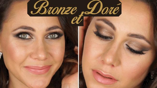 maquillage soirée bronze et doré