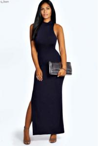 robe femme fatale bleu marine