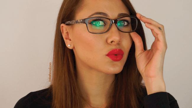 maquillage avec des lunettes de vue