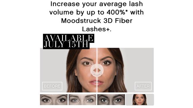 avant après mascara younique 3D fiber lasses