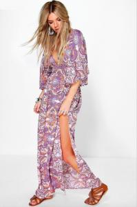 robe longue hippy chic fendu 2016