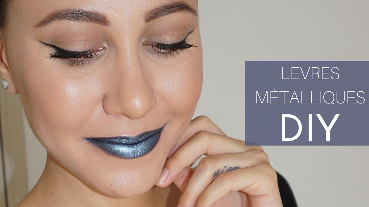 diy metallic lipstick