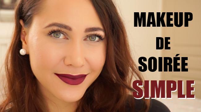 maquillage soirée simple