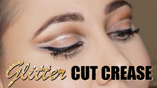 maquillage pailleté pour les yeux