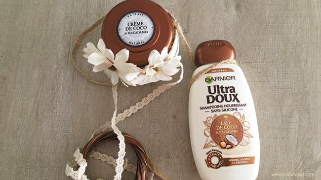 shampoing après shampoing lait de coco garnier