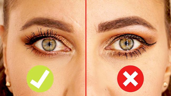 erreur makeup yeux