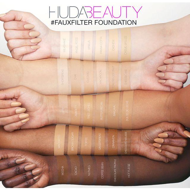 teintes faux filter huda beauty