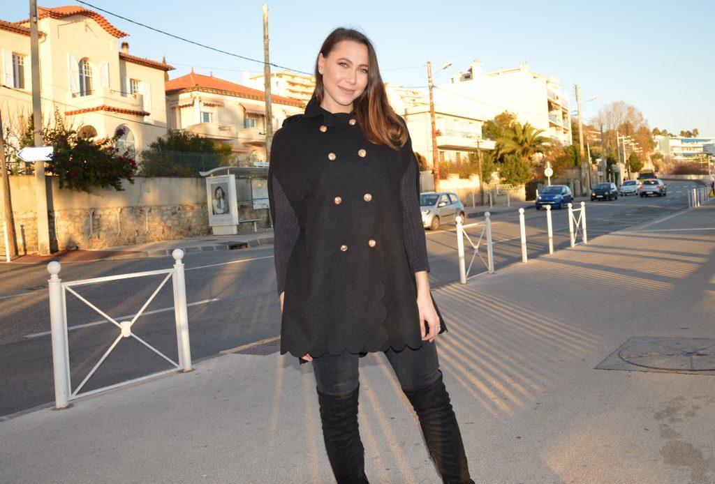 manteau cape femme