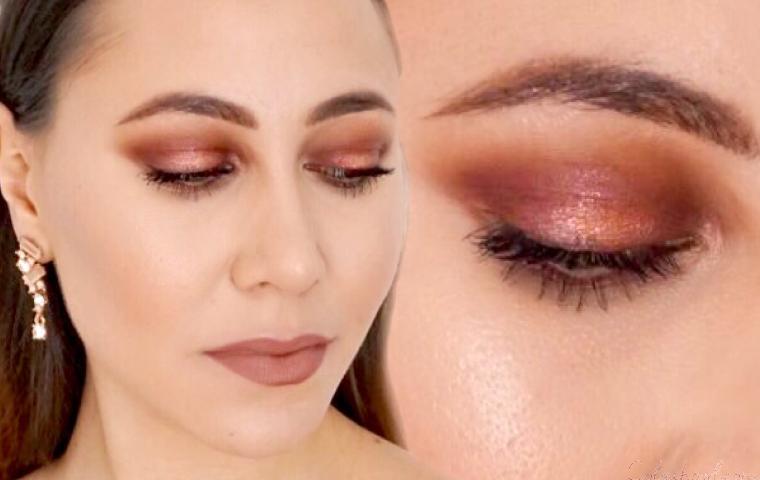 Tuto maquillage rose gold