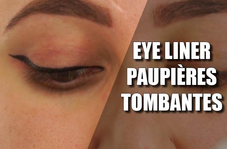 eye liner paupières tombantes