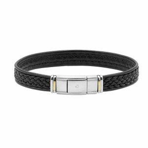 Idée cadeau noel 2018 bracelet acier cuir