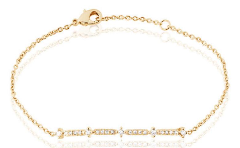Bracelet or et diamant pas cher