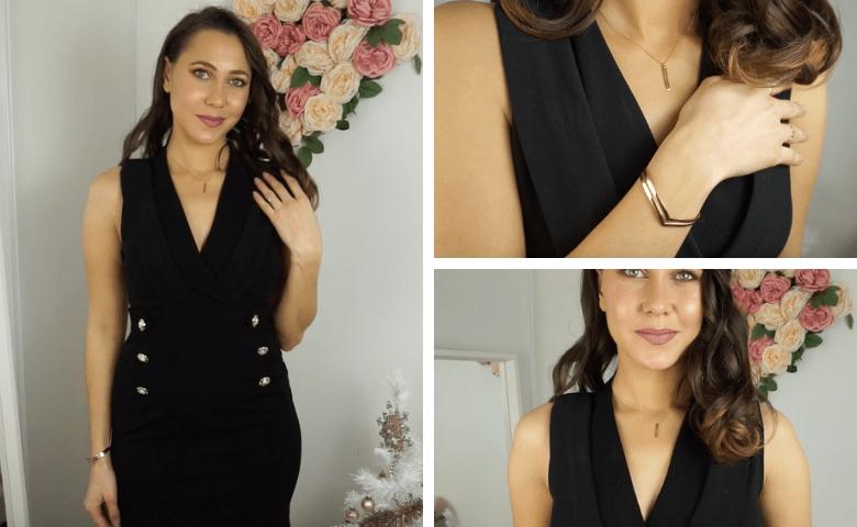 assortir bijoux vêtements noirs