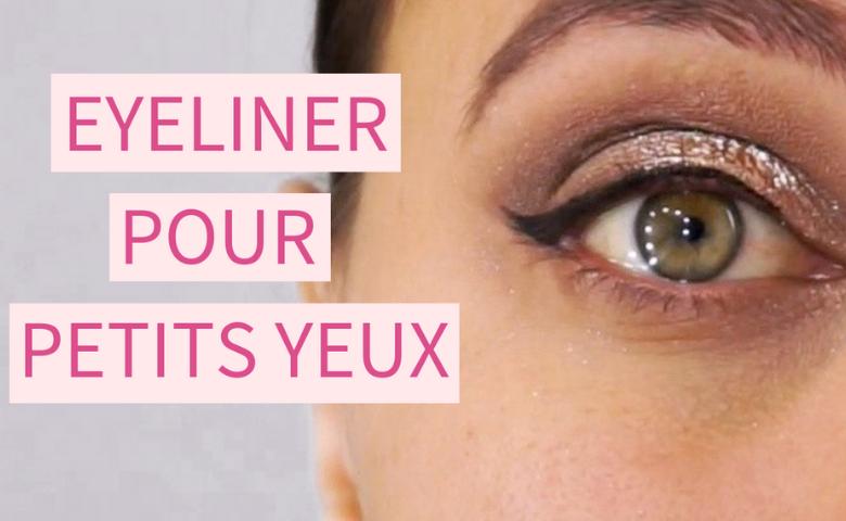 Le trait d'eye liner pour petits yeux